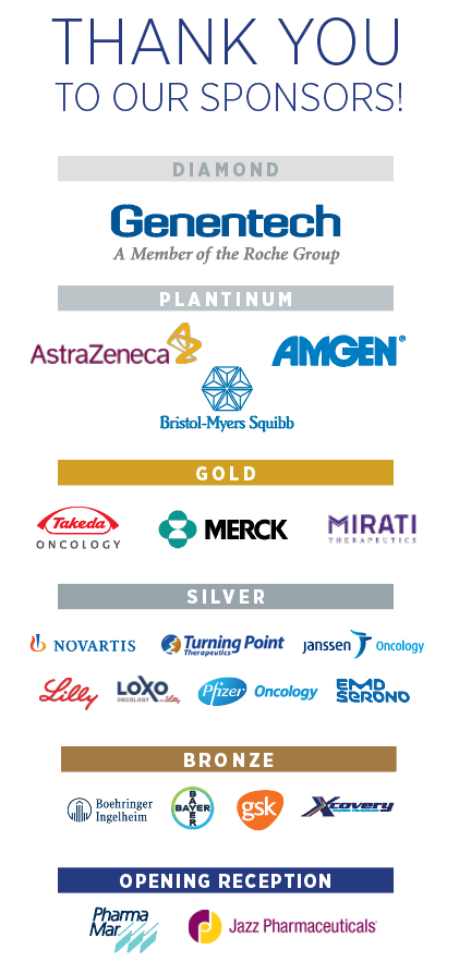 IASLC 2020 Targeted Therapies of Lung Cancer Meeting Sponsors